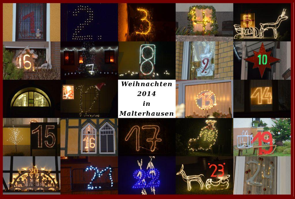 Leuchtender Weihnachtskalender Malterhausen 2014