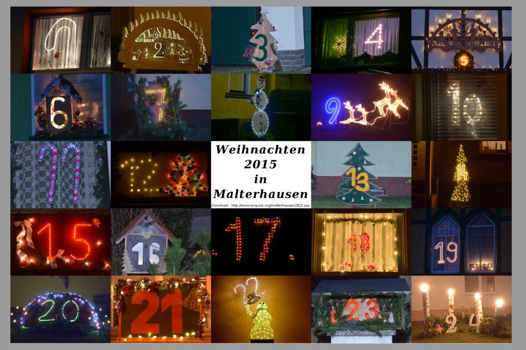 Leuchtender Weihnachtskalender Malterhausen 2015