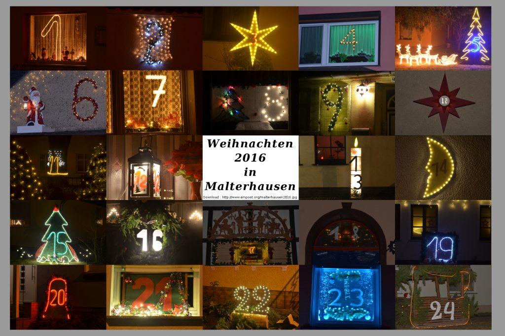Leuchtender Weihnachtskalender Malterhausen 2016