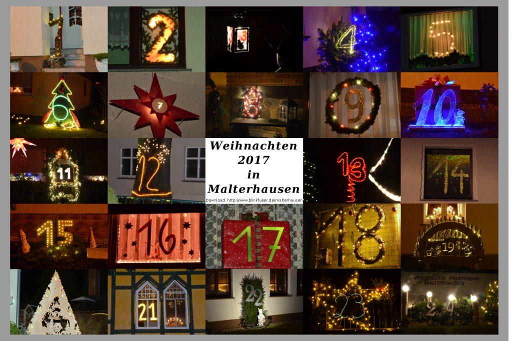 Leuchtender Weihnachtskalender Malterhausen 2017