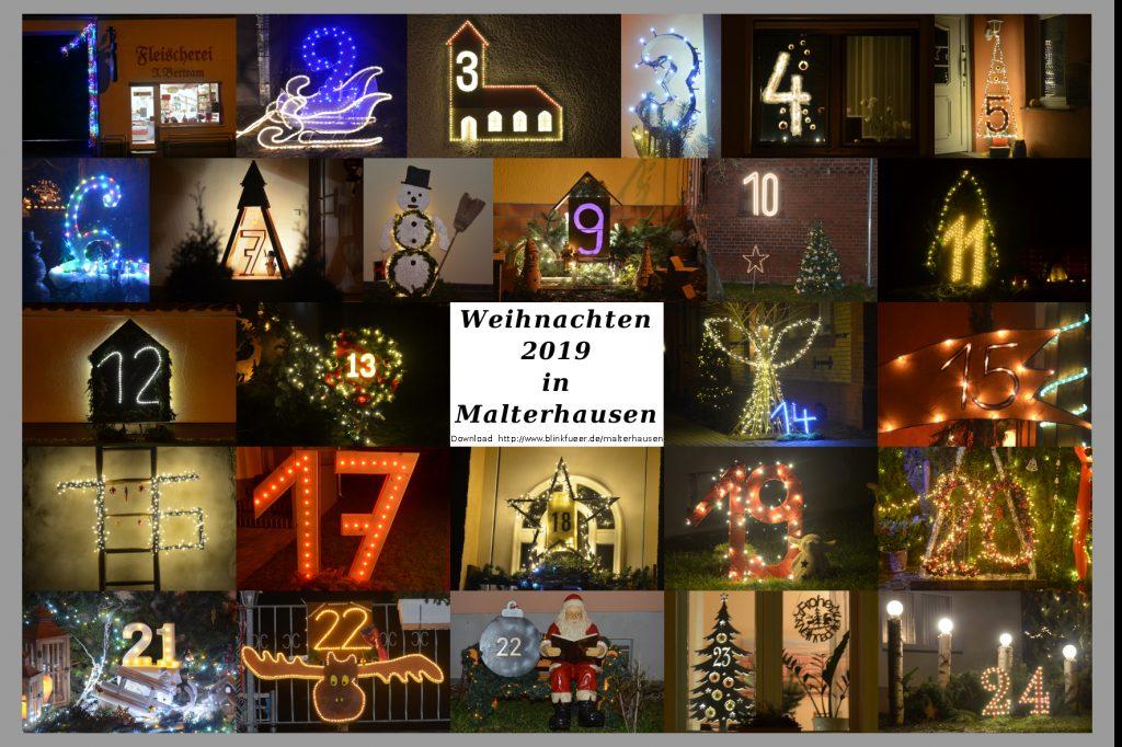 Leuchtender Weihnachtskalender Malterhausen 2019
