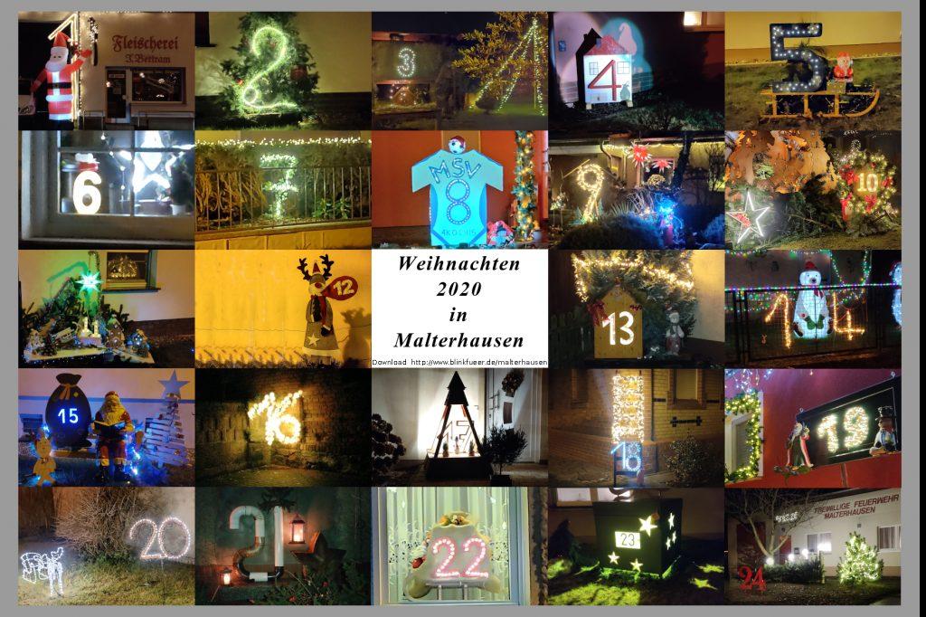 Leuchtender Weihnachtskalender Malterhausen 2020